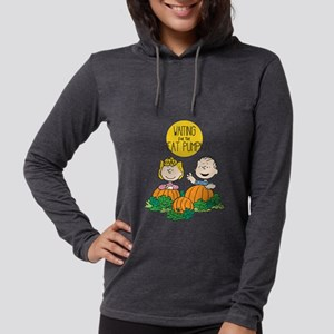Peanuts Waiting on the Great P Womens Hooded Shirt