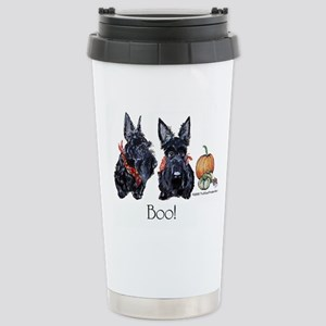 Halloween Scotties Stainless Steel Travel Mug
