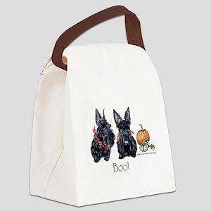 Halloween Scotties Canvas Lunch Bag