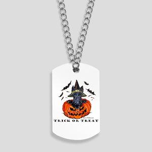 Scottie Witch Dog Tags