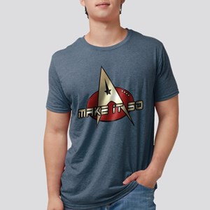 Make It So Star Trek Mens Tri-blend T-Shirt