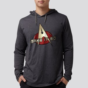 Make It So Star Trek Mens Hooded Shirt