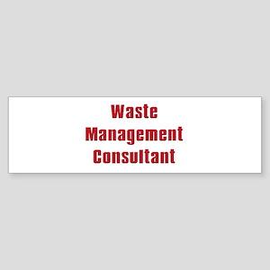 Soprano,Waste Managment Consultant Sticker (Bumper