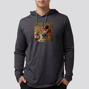 Steampunk Snoopy Mens Hooded Shirt