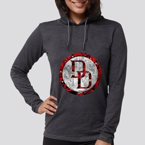 MC Daredevil Logo Collage Womens Hooded Shirt