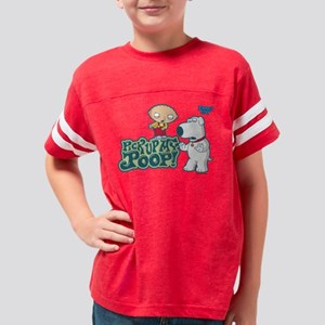 Pick Up My Poop Light Youth Football Shirt