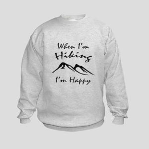 Hiking (Black) Kids Sweatshirt