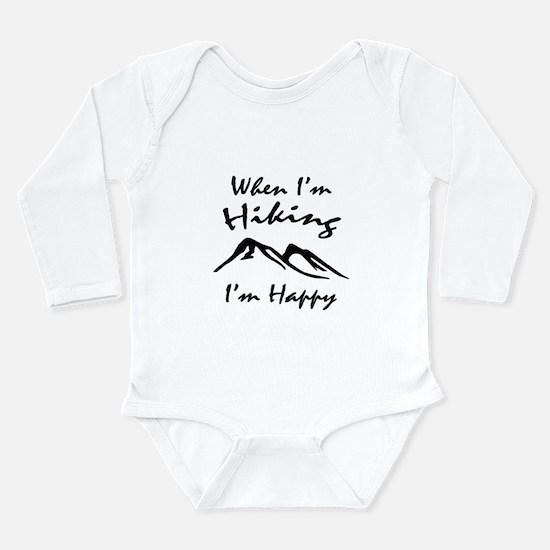 Hiking (Black) Long Sleeve Infant Bodysuit