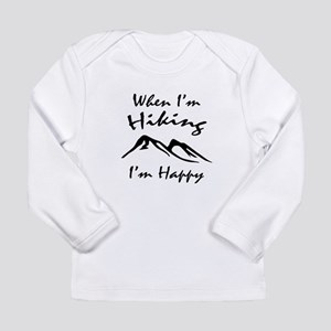 Hiking (Black) Long Sleeve Infant T-Shirt