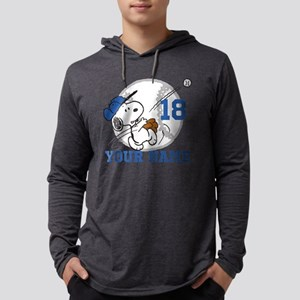Snoopy Baseball Personalized Mens Hooded Shirt