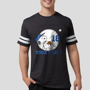Snoopy Baseball Personalized Mens Football Shirt