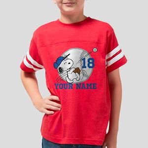 Snoopy Baseball Personalized Youth Football Shirt