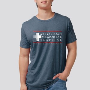 Grey   Sloan Memorial Hospi Mens Tri-blend T-Shirt
