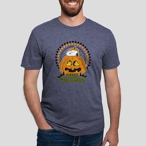 Snoopy - Happy Halloween Mens Tri-blend T-Shirt