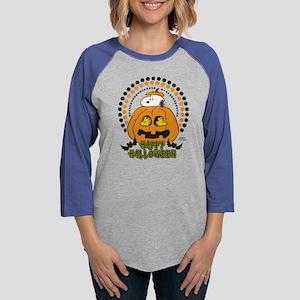 Snoopy - Happy Halloween Womens Baseball Tee