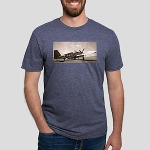 Tuskegee P-51 Mens Tri-blend T-Shirt