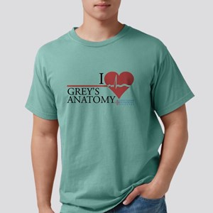 I Heart Grey's Anatomy Mens Comfort Colors Shirt