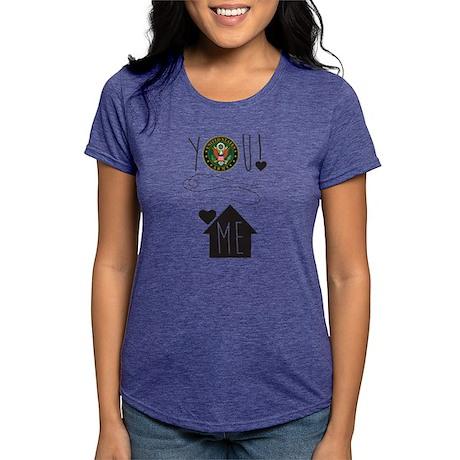 You Love Me Army Womens Tri-blend T-Shirt