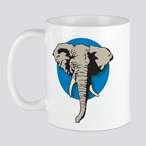 Elephant Blue Right-handed Mug
