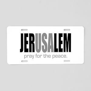 Jerusalem Pray for the Peace Aluminum License Plat
