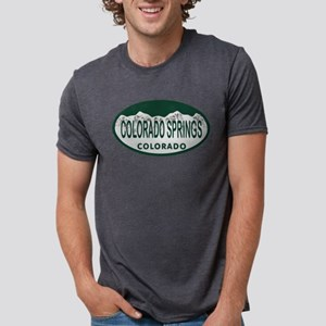 Colo_Spgs_license_oval Mens Tri-blend T-Shirt