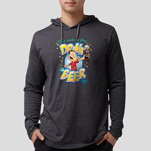 Drink the Beer Light Mens Hooded Shirt