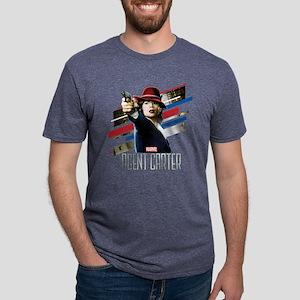 Agent Carter Stripes Mens Tri-blend T-Shirt