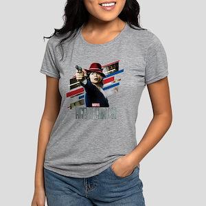 Agent Carter Stripes Womens Tri-blend T-Shirt