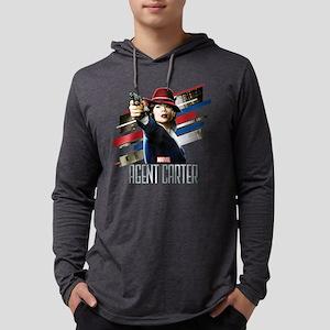 Agent Carter Stripes Mens Hooded Shirt