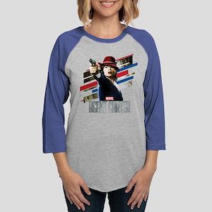 Agent Carter Stripes Womens Baseball Tee