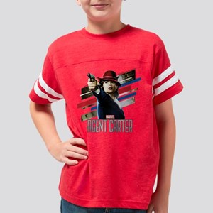 Agent Carter Stripes Youth Football Shirt