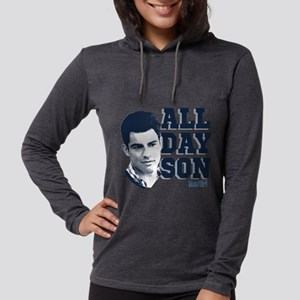 New Girl All Day Son Light Womens Hooded Shirt