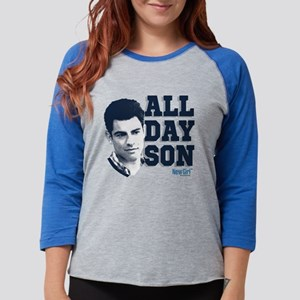 New Girl All Day Son Light Womens Baseball Tee