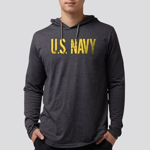 U.S. Navy: Gold Stencil Mens Hooded Shirt