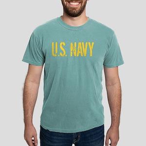 U.S. Navy: Gold Stencil Mens Comfort Colors Shirt