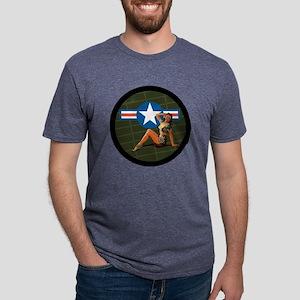 Air Force Pinup Girl Mens Tri-blend T-Shirt