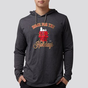 Home for the Holidays Dark Mens Hooded Shirt