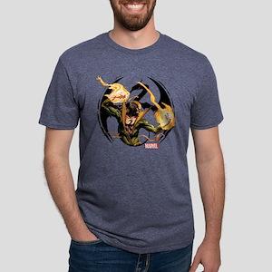 Iron Fist Glowing Fists Lig Mens Tri-blend T-Shirt