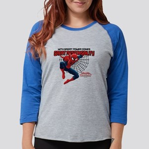 WithGreatResponsibility-LIGHT Womens Baseball Tee