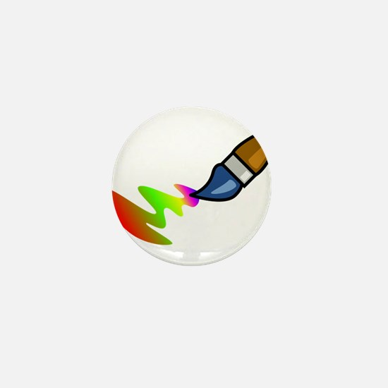 Paint Brush Painting Mini Button