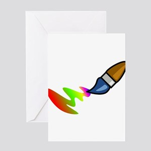 Paint Brush Painting Greeting Cards
