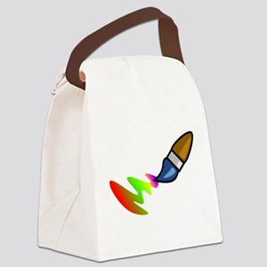 Paint Brush Painting Canvas Lunch Bag