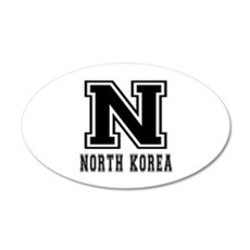 North Korea Designs Wall Decal