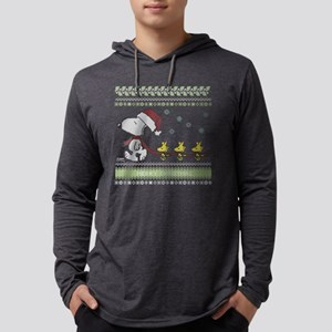 Snoopy Ugly Christmas Red Mens Hooded Shirt