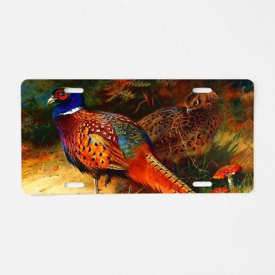Pheasant Pair Aluminum License Plate