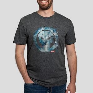 Punisher Grunge Icon Mens Tri-blend T-Shirt