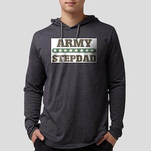 Army Stepdad Mens Hooded Shirt
