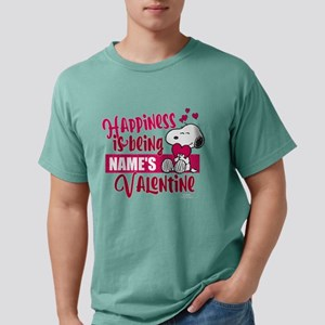 Snoopy Happiness Valenti Mens Comfort Colors Shirt