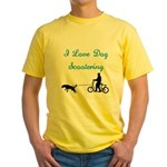 Dog Scootering Yellow T-Shirt
