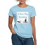 Dog Scootering Women's Light T-Shirt